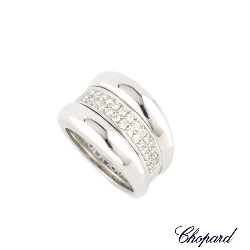 Chopard 18k White Gold La Strada Diamond Set Ring 82/6435-41